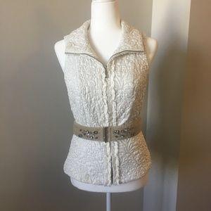 White House Black Market Jewel-Belted Vest Size XS